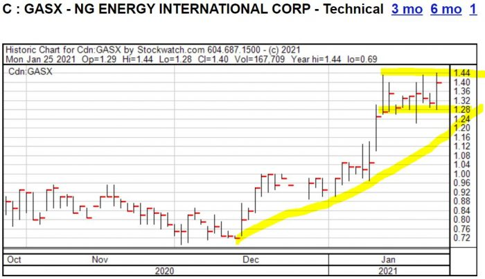 Chart von NG Energy International